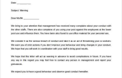 warning letter to employee warning letter to employee from hr free word doc download min