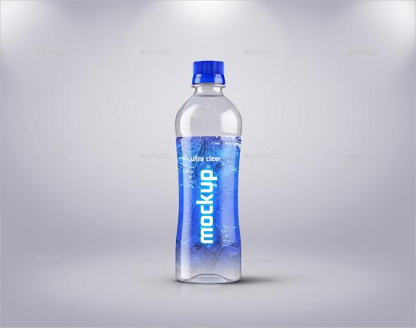 water bottle template
