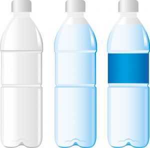water bottle template vector water bottle template material