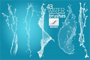 water brush photoshop water splash brushes for photoshop