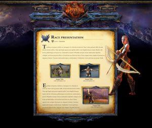 web design resume darkfall fantasy game interface web design