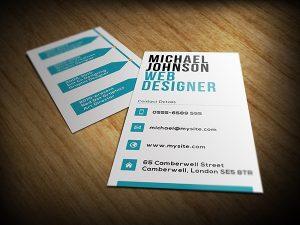 web designer business card a edb