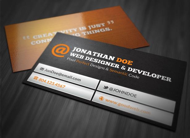 web designer business card