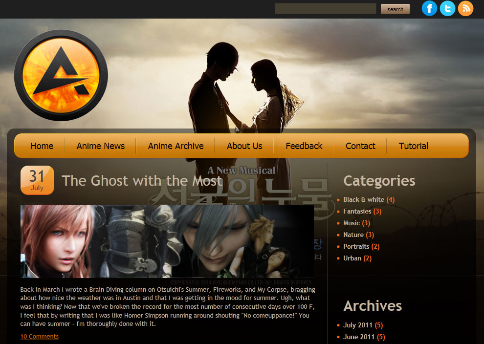 web template html5