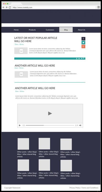 website mockup template