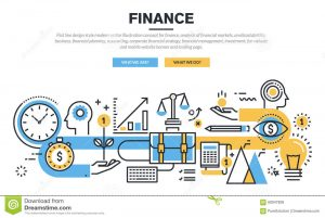 website planning template flat line design concept finance market analysis financial planning accounting corporate financial strategy financial