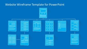 website planning template slidemodelcom website wireframe powerpoint template