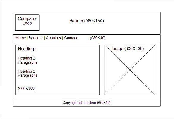 website storyboard template
