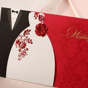 wedding announcement template wedding invitations red and gold