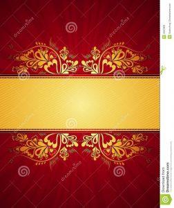 wedding announcement templates golden background vector