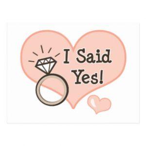 wedding announcement templates i said yes wedding announcement postcard rdbecabcfafed vgbaq byvr