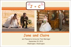 wedding announcements template preview big