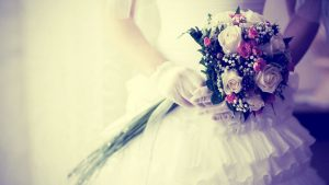 wedding background images bride with flowers wedding background