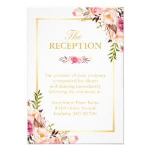 wedding budget template wedding reception elegant chic floral gold frame card racebbfbec zklg