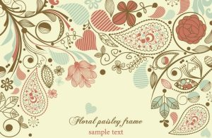 wedding card templates elegant floral background pattern vector