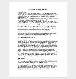 wedding ceremony outline traditional wedding ceremony outline 1