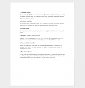 wedding ceremony outline wedding ceremony order of events and ceremony outline 1