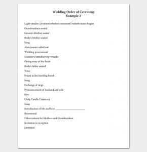 wedding ceremony outline wedding ceremony program outline in pdf 1