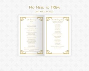 wedding ceremony template best printable wedding ceremony program template