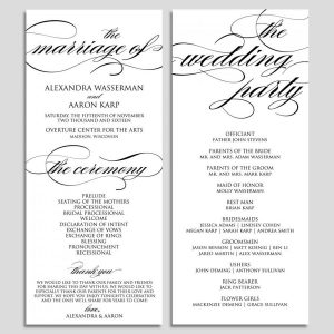 wedding ceremony template wedding program template wedding program printable ceremony printable template pdf instant download script diy wbwd