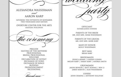 wedding ceremony template wedding program template wedding program printable ceremony printable template pdf instant download script diy wbwd