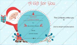 wedding certificate template gift certificate template santa design