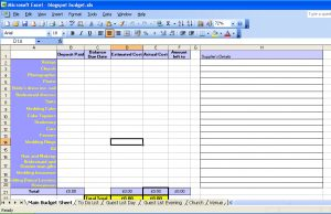 wedding checklist excel spreadsheet preview