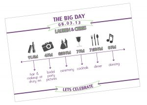 wedding day schedule templates il fullxfull jsv
