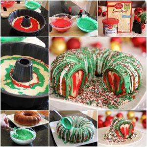 wedding gift list rainbow tie dye christmas wreath bundt cake