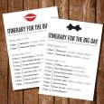 wedding itinerary template print ready wedding itinerary template for download