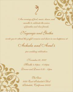 wedding menu samples achala