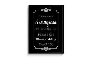 wedding menu samples if you instagram flyer poster frame mockup
