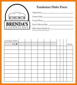 wedding order of service template blank order form template fundraiser blank order form free sample template download