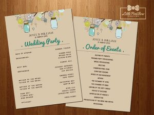 wedding order of service template il xn nzno