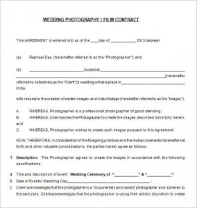 wedding photographer contract free download wedding photography contract templat