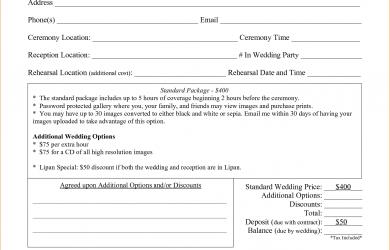 wedding photographer contract wedding photography contract template