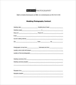 wedding photography contract pdf wedding photography contract