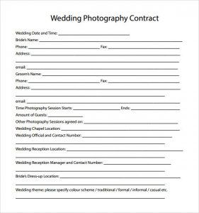 wedding photography contract pdf wedding photography contract template pdf
