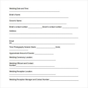 wedding photography contract pdf wedding photography contract template word