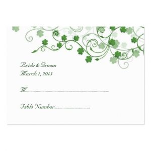 wedding place card template clover irish wedding place card business card rffecbaea xwjeg byvr