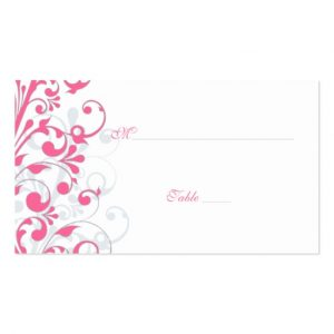 wedding place card template pink grey white floral wedding place cards business card rbfeffaacf xwjey byvr