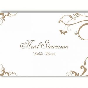wedding place card template x q