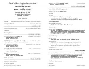 wedding planning timeline template catholic wedding ceremony program template new