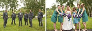 wedding program design teal and purple wedding party