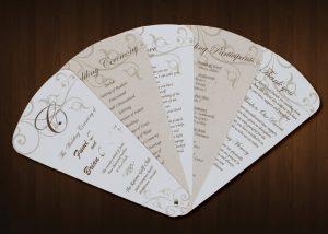wedding program fan template il fullxfull fvv