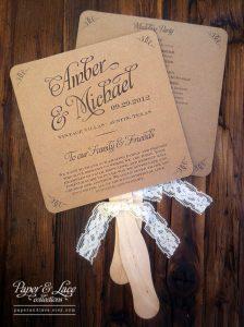 wedding program fan template il fullxfull adwt
