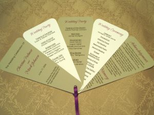 wedding program fan templates fan wedding programs