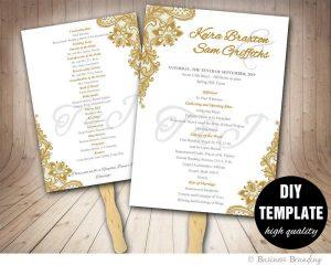 Wedding Program Fan Template.Wedding Program Fans Template Template Business