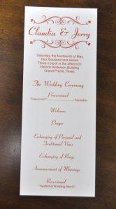 wedding program sample dsc