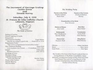 wedding program sample wedding program inside